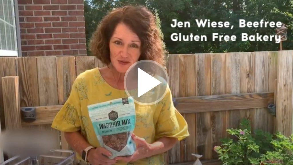 Jen Wiese of Bee Free Gluten Free teaching how to make oat milk.